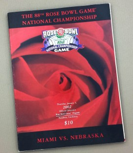 Rose Bowl 2002 Game Program