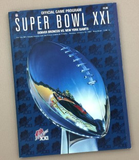 Super Bowl XXI 1987 Game Program