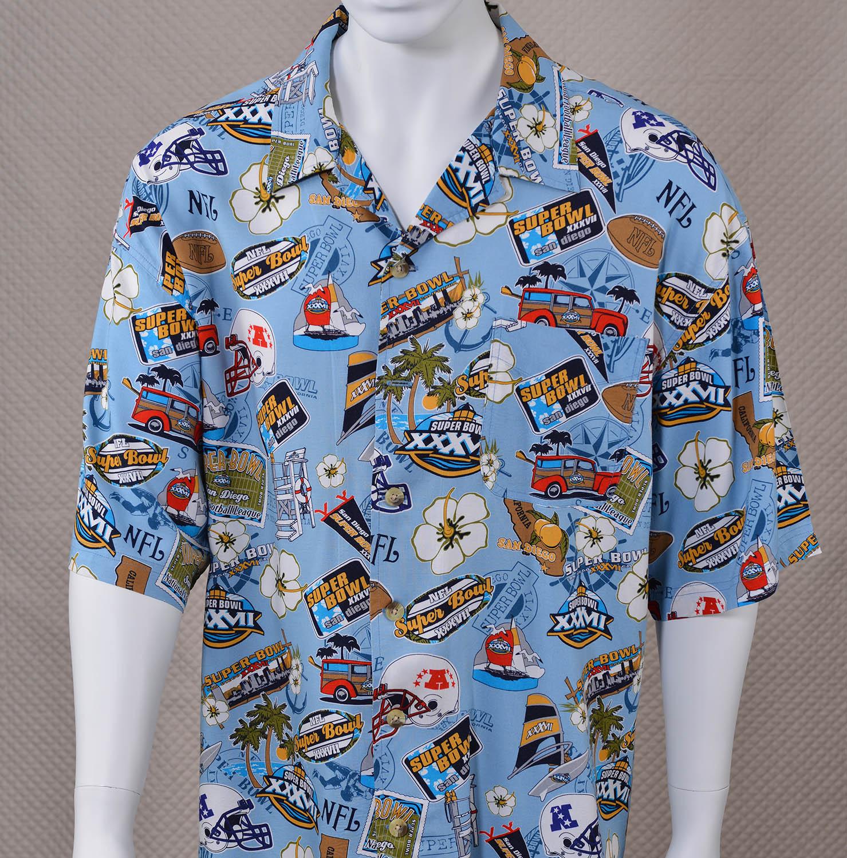 Super Bowl XXXVII Hawaiian-style Shirt - SportsHistoryCollectibles.com 9e8889a7a