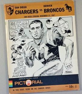 Chargers Broncos 1967 Program
