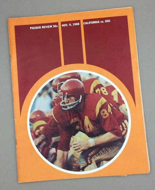 USC vs Cal Bears Program November 9th 1968