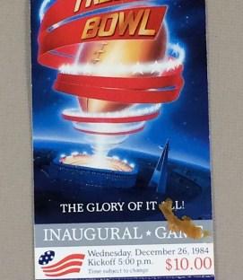 Inaugural Freedom Bowl 1984 Ticket