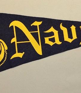 1950's Naval Academy Team Pennant