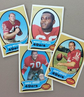 San Francisco 49ers 1970 cards