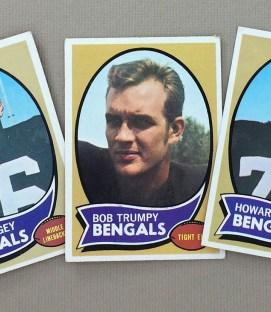 Cincinnati Bengals 1970 cards
