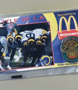 Los Angeles Rams/Raiders Commemorative Pin
