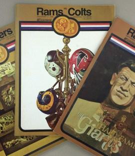 Los Angeles Rams 1969 Program 3 Pack 2