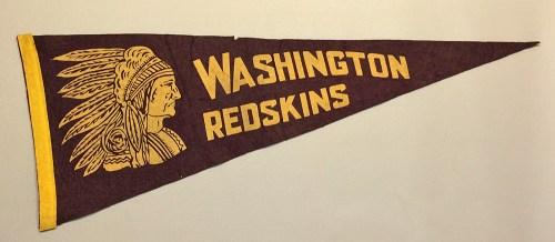 1940s Washington Redskins Felt Pennant