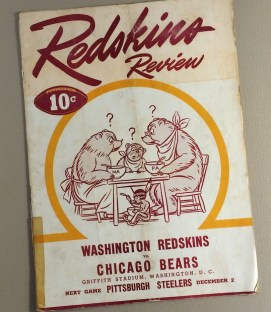 1945 Washington Redskins vs Chicago Bears Game Program