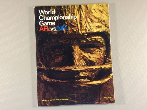 1967 Super Bowl I Program