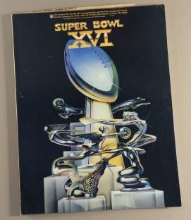 1982 Super Bowl XVI Program