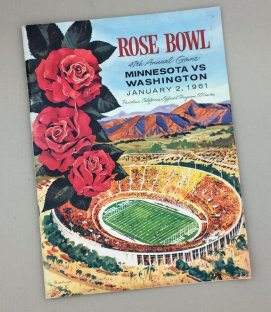 1961 Rose Bowl Game Program