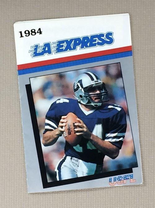 Los Angeles Express 1984 Schedule