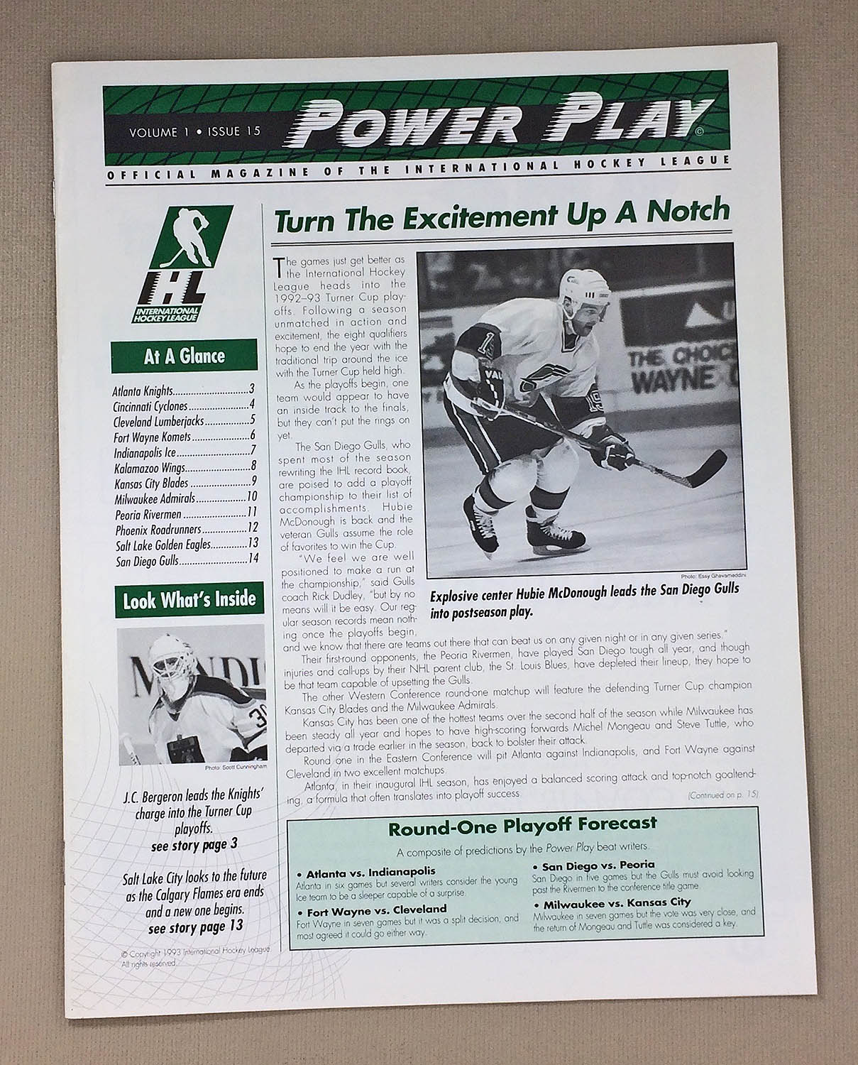 Ihl Power Play Vol 1 Issue 15 1993 Sportshistorycollectibles Com