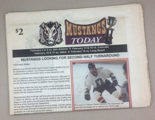 Phoenix Mustangs 2001 Tabloid WCHL Program
