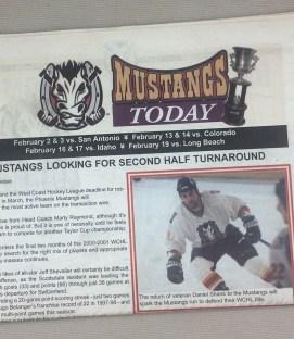 Phoenix Mustangs 2001 Tabloid WCHL Program