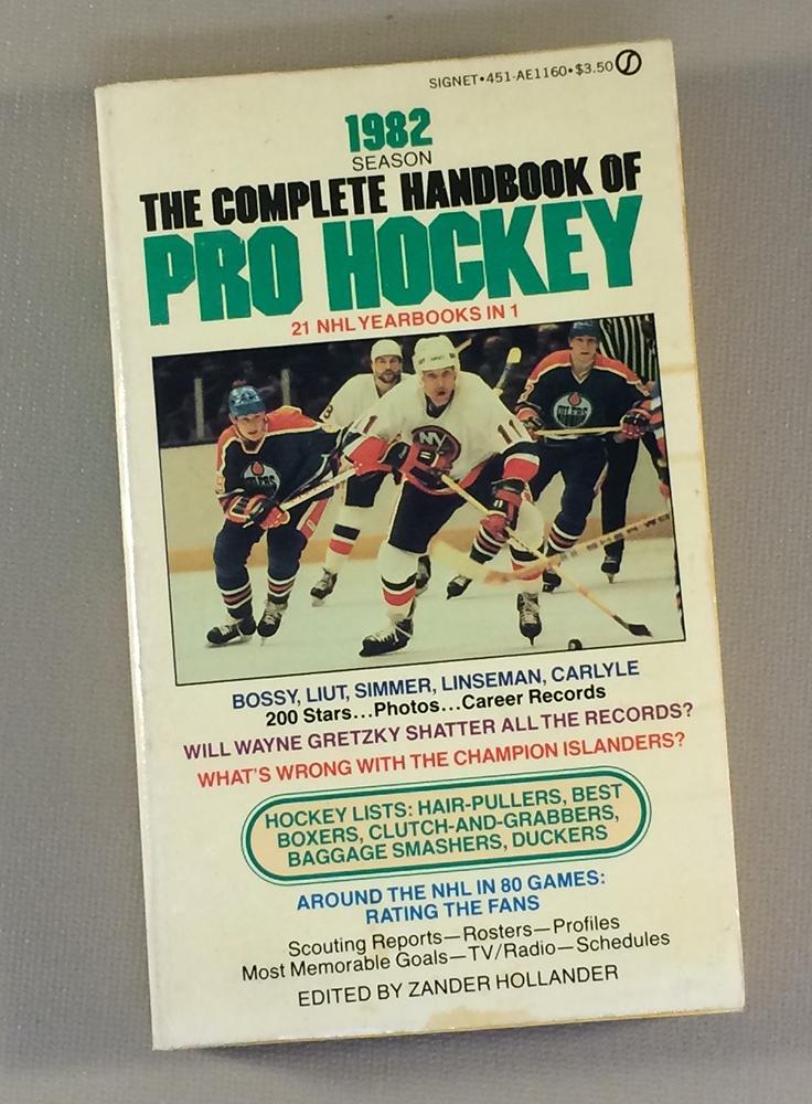 Zander Hollander 1982 The Complete Handbook Of Pro Hockey