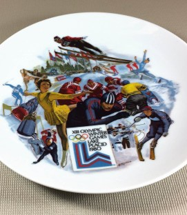 1980 Lake Placid Olympics Commemorative Plate