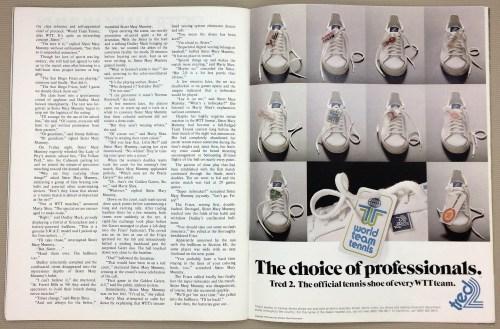 World Team Tennis Tred2 Ad 1976