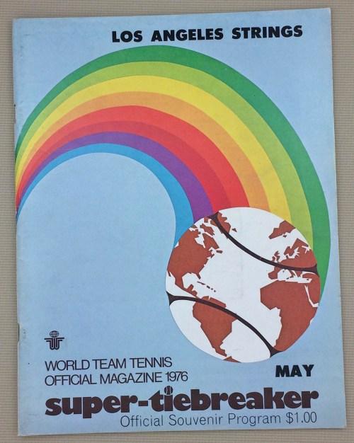 WTT Strings Racquets 1976 Program
