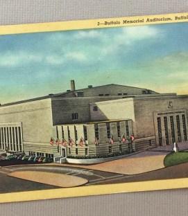 Buffalo Memorial Auditorium Postcard