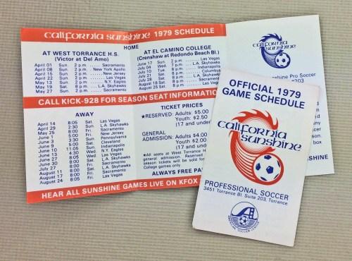 California Sunshine 1979 ASL Schedule