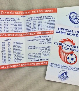 California Sunshine 1979 ASL Schedule
