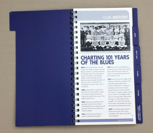 Chelsea, Charting 101 Years of the Blues