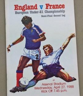 England France U21 Championship Semi-Final Program
