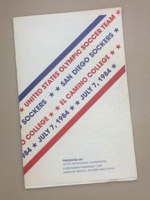 Sockers US Olympic Team 1984 Program