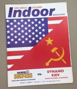 San Diego Sockers Dynamo Kiev 1985 Program