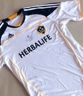 Galaxy Jersey Autographed by Robbie Keane