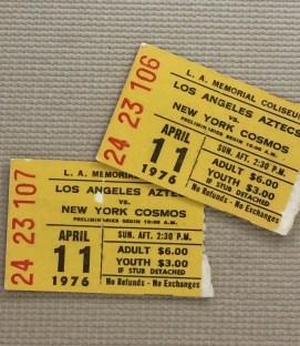 Los Angeles Aztecs Cosmos 1976 Tickets