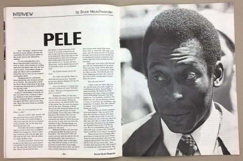 Soccer World Pele Interview