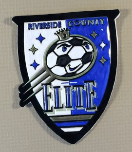 Riverside County Elite Embossed Vinyl Team Patch