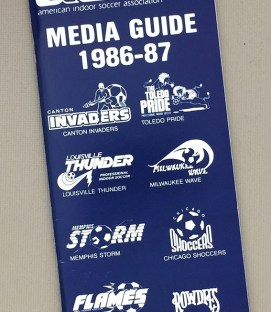 American Indoor Soccer Association (AISA) 1986-87 Media Guide