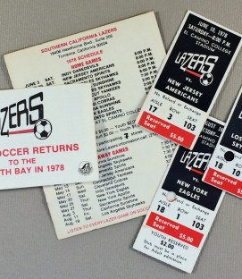 So Cal Lazers Schedule & Ticket Stubs