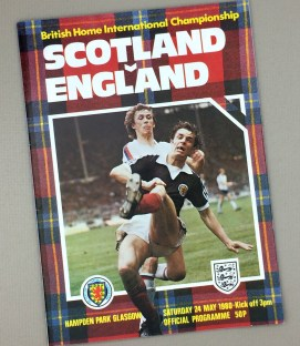 May 24th, 1980 Scotland Vs England British Home International Tournament Game Program