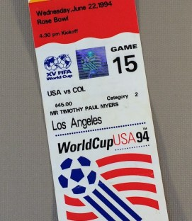 World Cup '94 USA vs Colombia Tickets