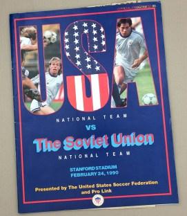 February 24th, 1990 USA vs Soviet Union Game Program