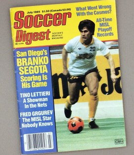 July, 1985 Soccer Digest Magazine