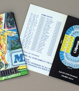 Cleveland Force 1984-85 Schedule