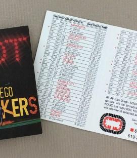 San Diego Sockers 1984-85 Schedule