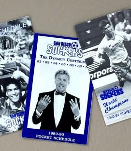San Diego Sockers 1989-91 Schedule Set