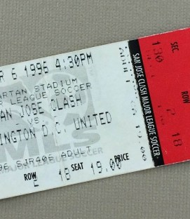 MLS Inaugural Game Ticket Stub