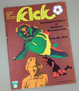July 26th, 1975 Los Angeles Aztecs vs Hartford Bicentennials Game Program
