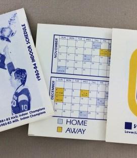 San Diego Sockers 1983-84 Schedule