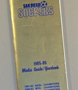 San Diego Sockers 1985-86 Media Guide