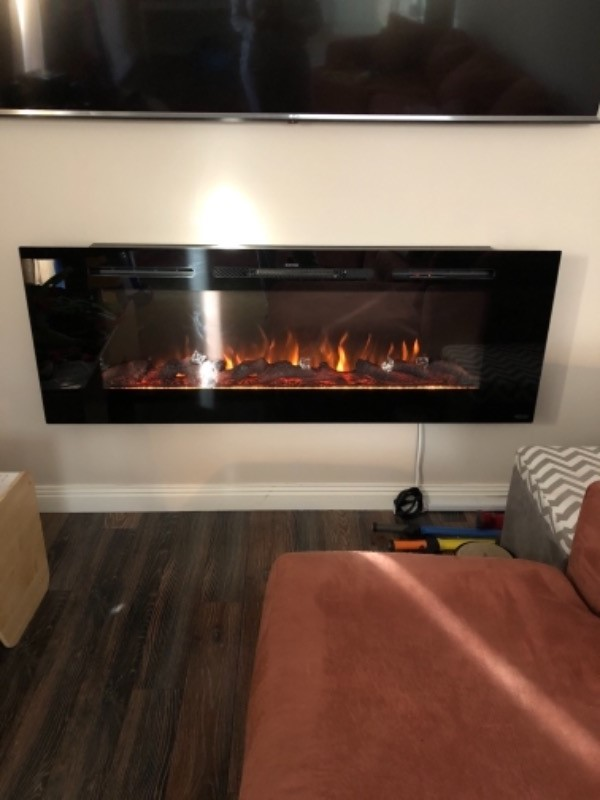 Touchstone 80011 Sideline 60 Recessed Electric Fireplace