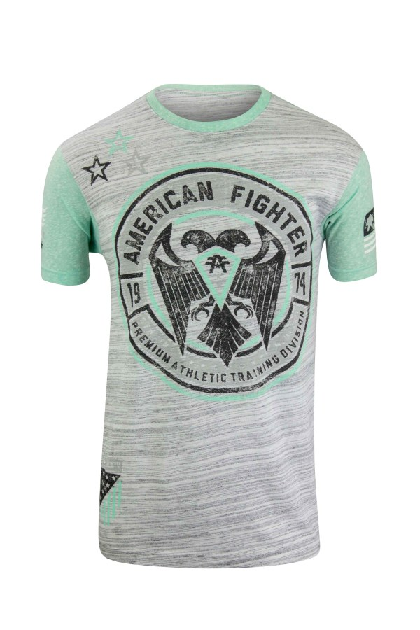 American Fighter Kennesaw T-shirt Gray Mint Green
